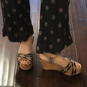 Cynthia Vincent boho Dabney wedge sandals